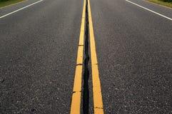 空的车行道 图库摄影