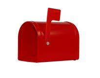 空的邮箱红色 免版税库存照片