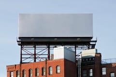 空的都市广告牌 免版税库存照片