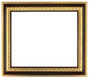 空的金黄画框 库存照片