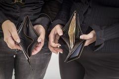 空的钱包和充分 库存图片