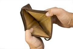 空的钱包 免版税库存图片