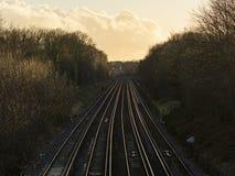 空的铁路线 免版税图库摄影