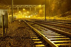 空的铁路运输 免版税库存图片