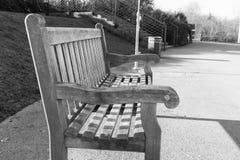 空的长凳 库存图片
