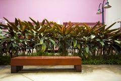 空的长木凳椅子 免版税库存照片