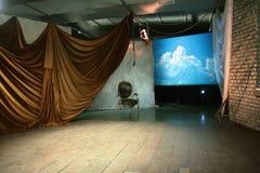空的阶段剧院 库存照片