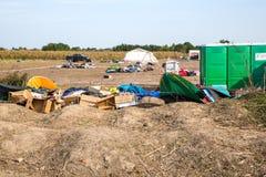 空的难民营在Roeszke 免版税库存图片
