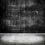 空的难看的东西混凝土墙和水泥地板,纹理背景 免版税库存图片