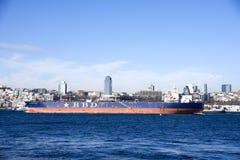 空的集装箱船RBD 免版税库存照片