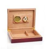 空的雪茄盒开张了 免版税图库摄影