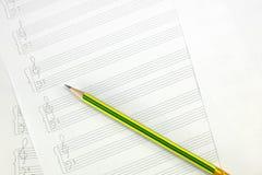空的音乐纸张 免版税库存图片
