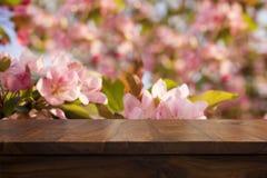 空的顶面木桌 免版税库存照片