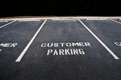 空的顾客停车场 库存图片