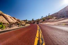 空的风景高速公路在犹他 库存照片