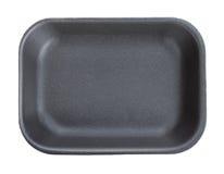 黑空的食物盘子 库存图片