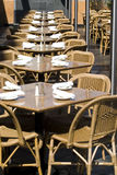 空的餐馆表 库存图片