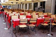 空的餐馆 免版税库存照片