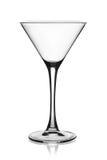 空的马蒂尼鸡尾酒玻璃。 免版税图库摄影