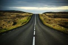 空的高速公路路美好的风景  免版税库存图片