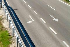 空的高速公路路 图库摄影