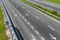 空的高速公路路 库存照片