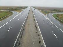 空的高速公路-鸟景色 库存照片