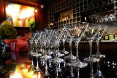 空的鸡尾酒或香槟玻璃 免版税图库摄影