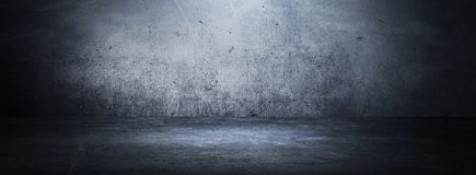 空的黑演播室室 可能 抽象黑暗的空的演播室室纹理 免版税库存照片