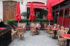 空的经典欧洲人st咖啡馆 库存图片