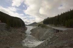 空的水坝Marmorera 库存照片