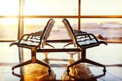 空的离开休息室在机场 图库摄影