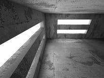 空的黑暗的地下室具体内部 抽象建筑学Bac 库存图片