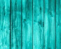 空的绿松石木背景 免版税图库摄影