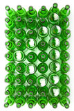 空的玻璃啤酒bottles.abstract背景 库存照片