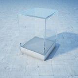 空的玻璃箱子 免版税库存照片