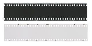 空的黑白影片小条 免版税库存照片
