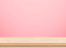 空的轻的木台式 库存图片