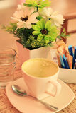 空的绿茶杯子 免版税库存图片