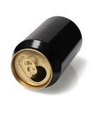 空的黑锡罐 免版税图库摄影