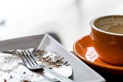 空的黑coffee& x27; s杯子 库存照片