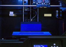 空的3d前面打印机 库存照片