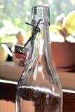 空的glassbottle 库存照片