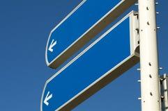 空的roadsign 免版税库存图片