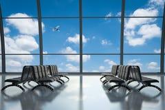 空的seatsn在机场 图库摄影
