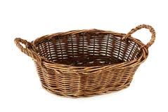 空篮子的面包 库存图片
