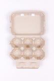 空纸盒的鸡蛋 库存照片