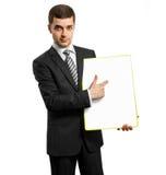 空董事会的生意人写道 免版税库存照片