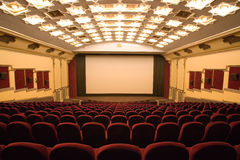 空观众席的戏院 免版税库存照片