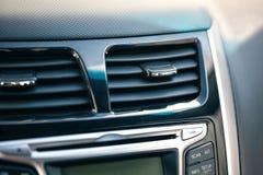 空调器例证分开的系统 在汽车里面的气流 免版税库存图片